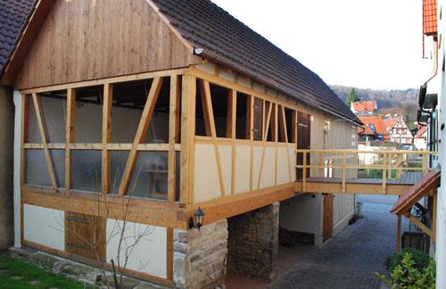 Pergola bauen mit der Zimmerei Fleck