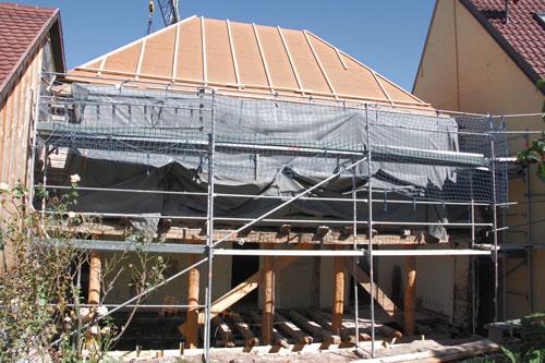 Umbau der Fassade