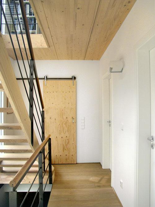 Holztreppe als Gestaltungselement