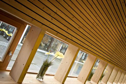 Holzfassade mit Schallschutz
