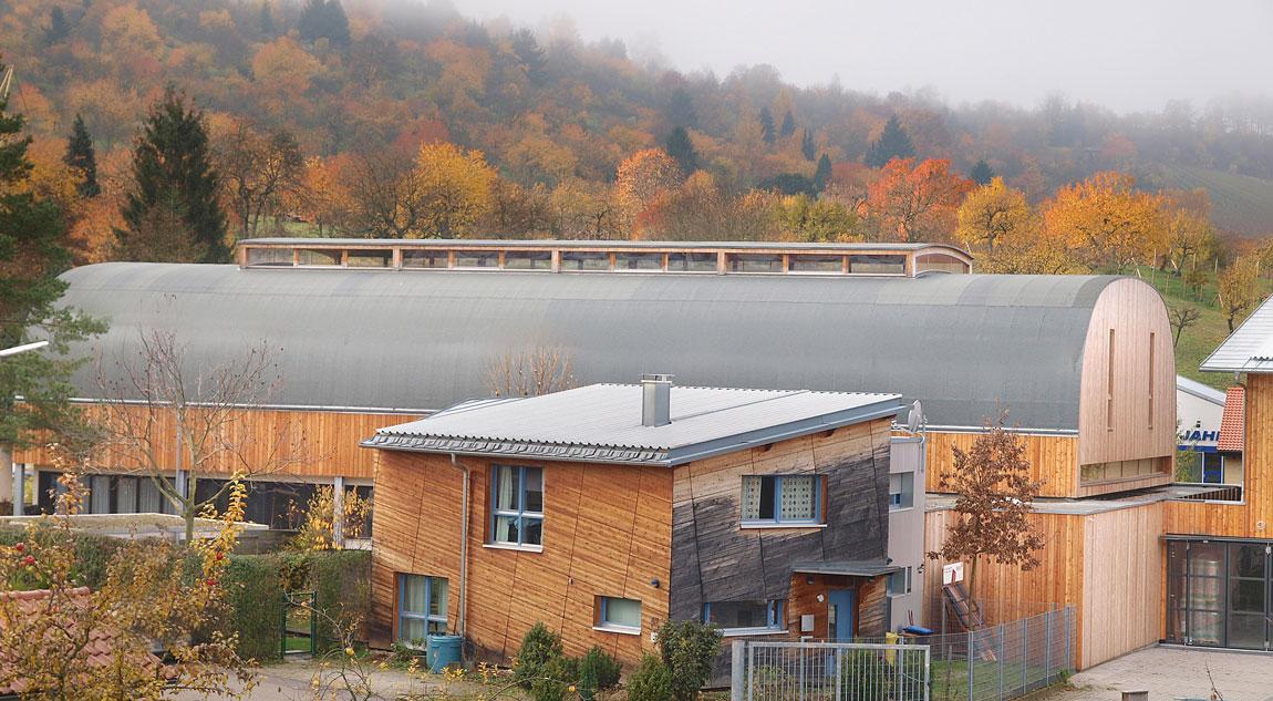 Gewerbebau als Massivbau aus Holz